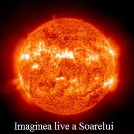 Imaginea live a Soarelui