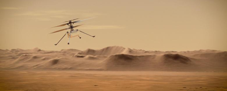 Elicopterul Ingenuity de pe Marte face primul zbor istoric pe planeta roșie
